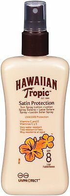 HAWAIIAN TROPIC Satin Protection Sun Spray Lotion LSF 8 (200 ml) NEU&OVP