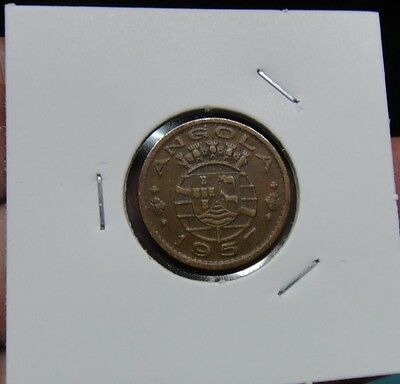 22# PORTUGAL / ANGOLA -  50 Centavos 1957  KM#75  NICE COIN