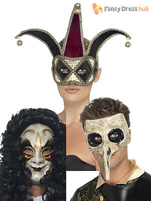 Mens Gothic Venetian Eye Face Mask Evil Halloween Masquerade Ball Fancy Dress