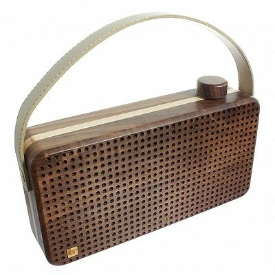 Kitsound Soul Wooden Bluetooth Portable Rechargeable Speaker