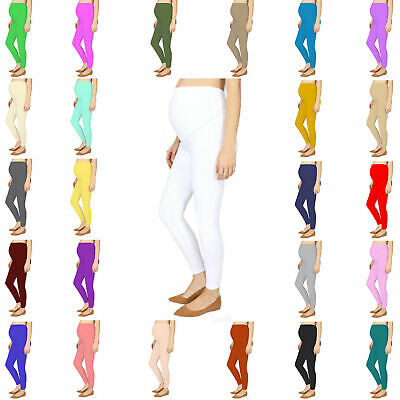 Ladies Womens Maternity Leggings Very Comfortable Full Ankle Length Leggings NEW