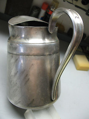 REED & BARTON  SILVER SOLDERED  PITCHER  No. 2859  CAPACITY  64 oz MASSIVE