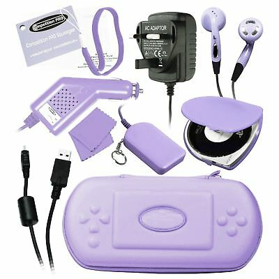 Competition Pro Deluxe Complete Pack Travel Case Accessories Pink/lilac For Psp