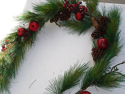 NEW Christmas 1pc 6' Garland Pine bulk wholesale lot floral Crafts FLOWERS #3