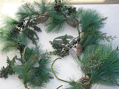 NEW Christmas 1pc 6' Garland Pine bulk wholesale lot floral Crafts FLOWERS #4