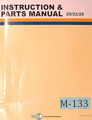 Microweily TY 20 22 26, Lthe Operations Parts and Wiring Manual