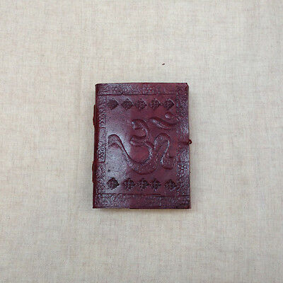 OM AUM INDIAN SMALL Leather Bound Handmade Paper Journal Diary Note Book