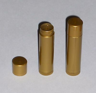 100 NEW Empty Gold Pearl LIP BALM Chapstick Tubes Containers - .15 oz / 5ml
