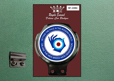 Royale Classic Car Badge & Bar Clip NEW MOD GENERATION B1.2464