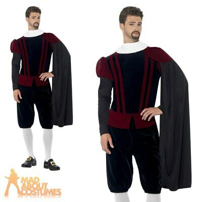 Blackadder Costume Mens Tudor Lord Fancy Dress Medieval Prince Outfit New