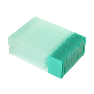 Professional 50PCS Blank Microscope Slides Cover Glass ground edges Lab