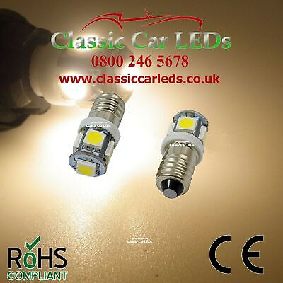2X 6V Led Lamp E10 Screw 6 Volt Warm White Bicycle Torch No Polarity E10 Mes