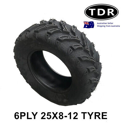 12 inch 25x8-12 Tyre Tire for Atomik 300cc Krusher Farm Bike 2x4 ATV UTV Quad