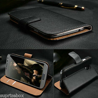 Genuine 100% Real Leather Wallet stand case cover for Huawei P10 P9 Lite Honor 8