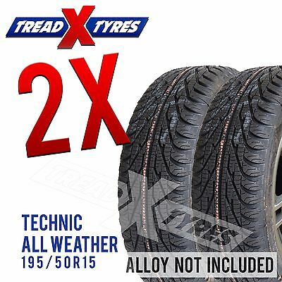 2x New 195/50R15 Winter / All Weather Tyres Fitting Available 195 50 15 Tyre s