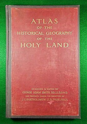 Atlas of the Historical Geography of the Holy Land: London 1915 Folio SUPER RARE