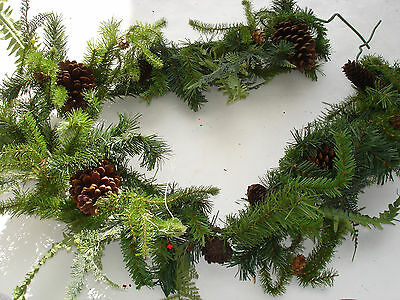 NEW Christmas 1pc 6' Garland Pine bulk wholesale lot floral Crafts FLOWERS #11