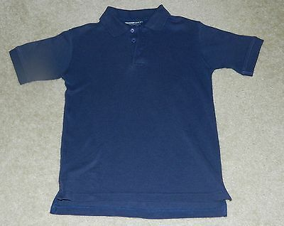 FRENCH TOAST School Uniform Navy Blue S/S Polo Shirt, Sz. 10
