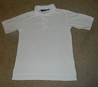 FRENCH TOAST School Uniform White S/S Polo Shirt, Sz. 10