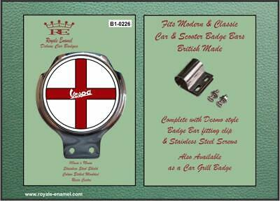 Royale Classic Car Badge & Bar Clip VESPA ST GEORGE Mod B1.0226