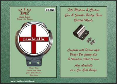 Royale Classic Car Badge & Bar Clip LAMBRETTA ST GEORGE Mod B1.0228