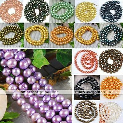 7-8mm Natural Cultured Freshwater Pearl Round Loose Bead Fit Jewelry Making DIY