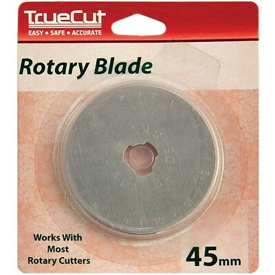 TrueCut Rotary Cutter Replacement Blades-45mm 1/Pkg. Shipping Included