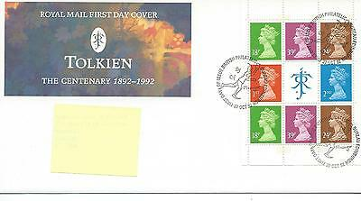 wbc. - GB - FIRST DAY COVER - FDC - PRESTIGE BOOKLET PANE - 1992- JRR TOLKIEN