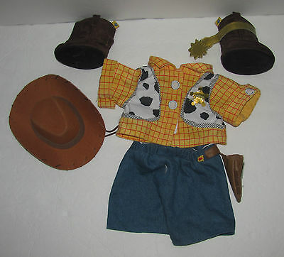 Build A Bear Disney Pixar Toy Story Cowboy Woody Western Costume - Boots, Hat,