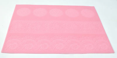 Lace Silicone Mat Pretty Delicate ROSE Design Cake Decorating Icing UK SELLER