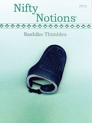 SASHIKO LEATHER THIMBLES BY NIFTY NOTIONS. Brand New