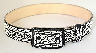 AUTHENTIC MEXICAN WESTERN PITA BELTS / FINEST QUALITY / HANDMADE 1 1/2 inch wide