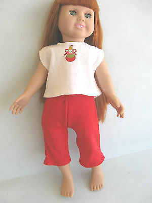 Handmade Summer top & crops to fit 18 inch American Girl & Olivia doll - new