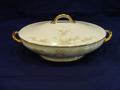 Royal Bayreuth Bavaria Fine China Antique Covered Serving Bowl