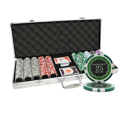 500 14G Eclipse Casino Table Clay Poker Chips Set New