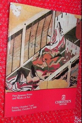 Christie's New York Fine Japanese Prints and Works of Art  October 8, 1988 #6672