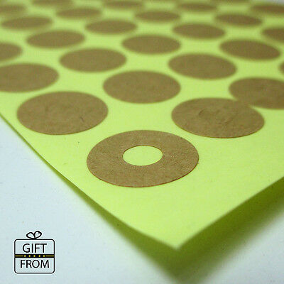 Kraft Brown Round Hole Reinforcement Stickers_DIY Hang Tag Ring Label Stickers