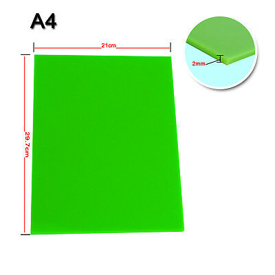 Promotion! Color Acrylic Sheet Plate Plastic Plexiglass  A4 2 mm Green