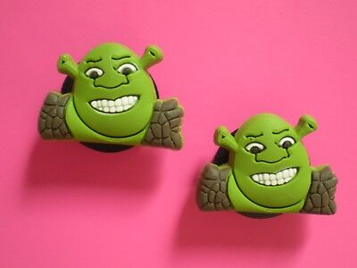 Clog Shoe Button Plug Charm For Jibbitz Wristband SHREK Fits Croc Clog Holes