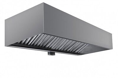 """Commercial Box Style Exhaust Hood with Interior Makeup Air - 6' x 48"""" x 24""""H"""