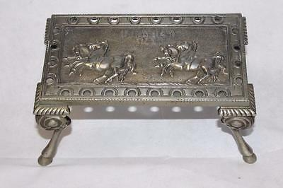 Antique Equine Themed Fire/Kettle Stand embossed Horse Design
