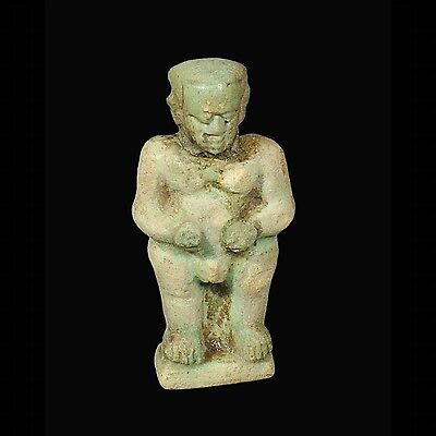 Aphrodite- Ancient Egyptian Faience Figure Of Pataek