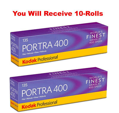 (10 Rolls) Kodak Portra 400 35mm Film 135-36 Color Negative ISO 400 FRESH 7/2020