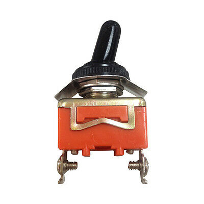 AC 250V 15A Amps ON/OFF 2 Position SPST Toggle Switch With Waterproof Boot LW