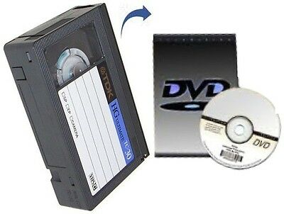 VHS-C to DVD/digital conversion service 1-hour footage