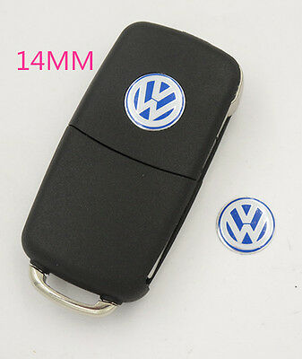 14Mm Vw Key Fob Logo Badge Emblem Sticker Volkswagen Golf Bora Passat Polo