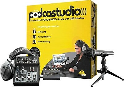 Behringer - Podcastudio Recording Kit. Free Delivery