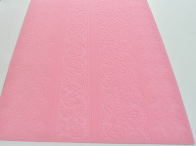 Lace Silicone Mat Pretty Intricate Design Border Cake Decorating Icing UK