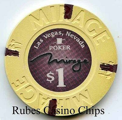 1.00 Chip from the Mirage Casino in Las Vegas Nevada Poker