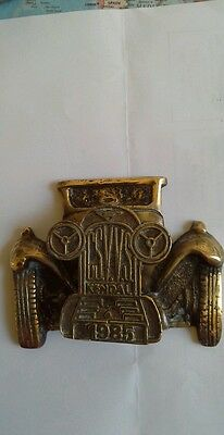 Antique  Brass Door Knocker - Motor Car
